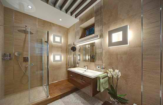 Luxurious Apartment Interior Design shower