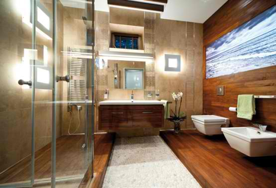 Luxurious Apartment Interior Design, Modern bathroom design