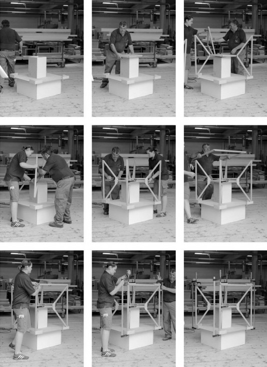 M3 chair by Thomas Feichtner under construction