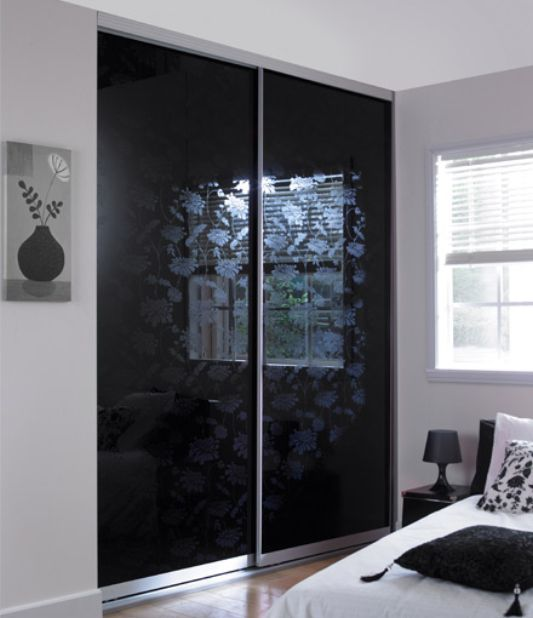 Minima collection, sliding door wardrobe without a frame