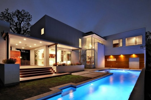 Minimalist Laurel Residence For Comfortable Everyday Living Beautiful In  Night View
