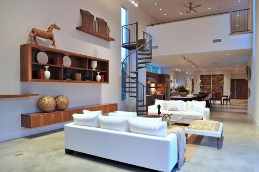 Minimalist Laurel Residence for Comfortable Everyday living - living room design