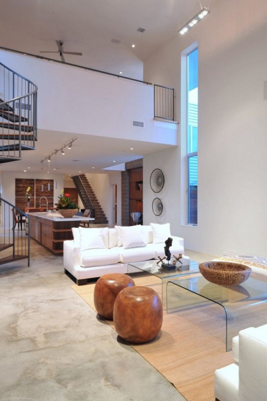 Minimalist Laurel Residence for Comfortable Everyday living - simple living room