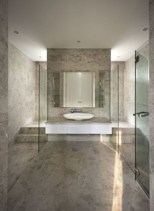 Modern Alnwick Road House by Park + Associates bathroom design