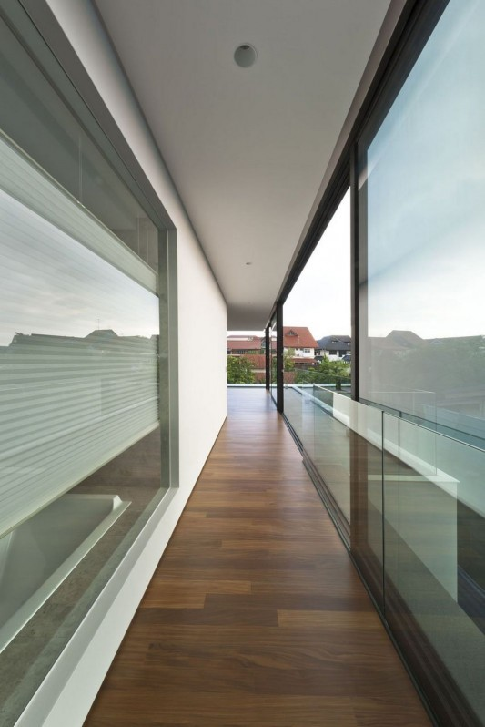 Modern Alnwick Road House by Park + Associates corridor