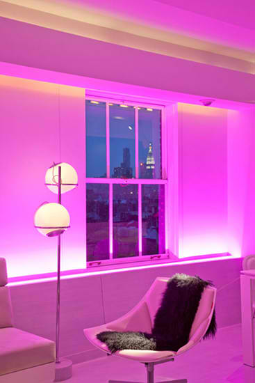 Modern Apartment Furniture With Mood Lighting - Home Design Inspiration