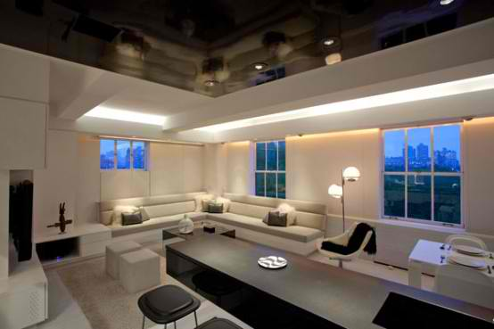 Modern Apartment Furniture  With Creative Lighting Mood