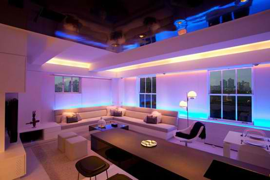 Attrayant Modern Apartment Furniture With Lighting Mood