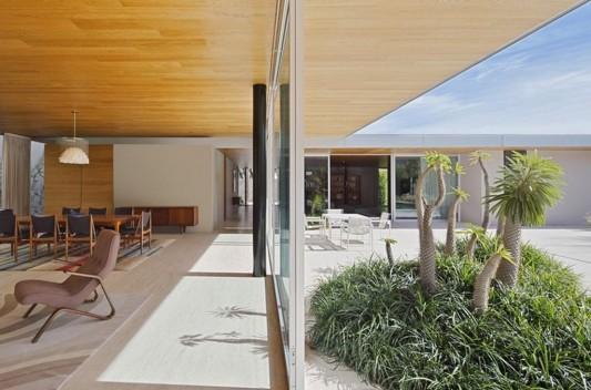 Modern Dwelling appreciating nature design close line between interior and exterior