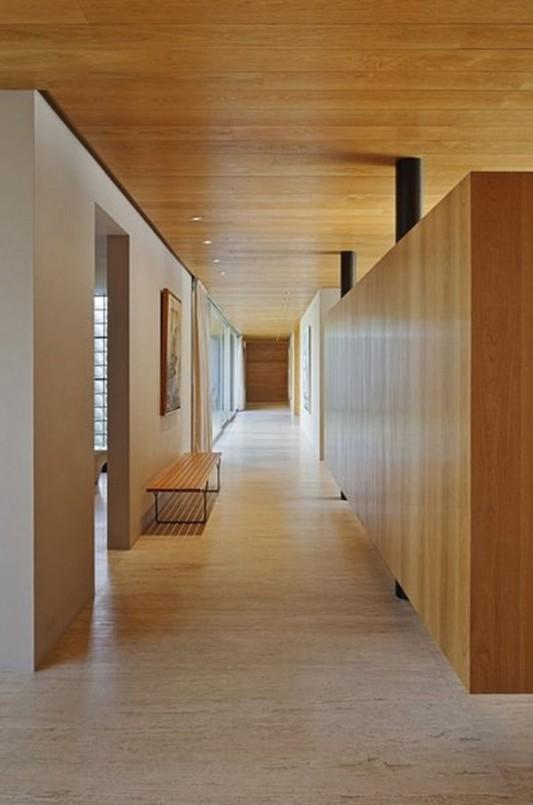 Modern Dwelling appreciating nature design hallway