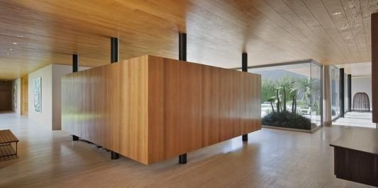 Modern Dwelling appreciating nature design interior partition