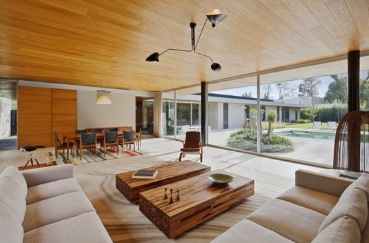 Modern Dwelling appreciating nature design living room
