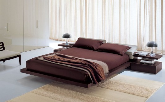 Modern Italian style platform bed minimalist design