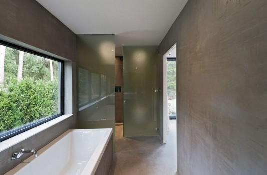 Modern Minimalist Villa Veth by 123DV bathroom