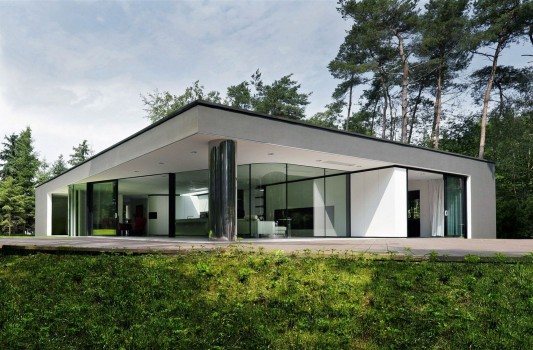 Modern Minimalist Villa Veth by 123DV beautiful abstract exterior