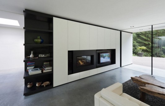 Modern Minimalist Villa Veth by 123DV contemporary living furniture
