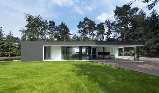 Modern Minimalist Villa Veth by 123DV exterior design