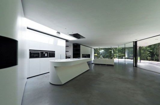 Modern Minimalist Villa Veth by 123DV kitchen design