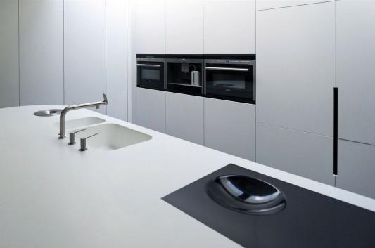 Modern Minimalist Villa Veth by 123DV kitchen island