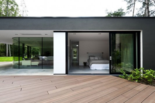 Modern Minimalist Villa Veth by 123DV terrace and bedroom