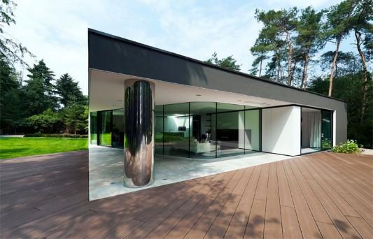 Modern Minimalist Villa Veth by 123DV terrace design