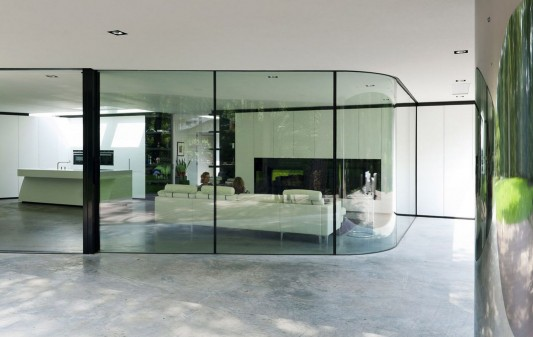 Modern Minimalist Villa Veth by 123DV transparent living room
