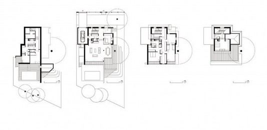 Modern Reconstruction House by Atelier Heiss Architects plan