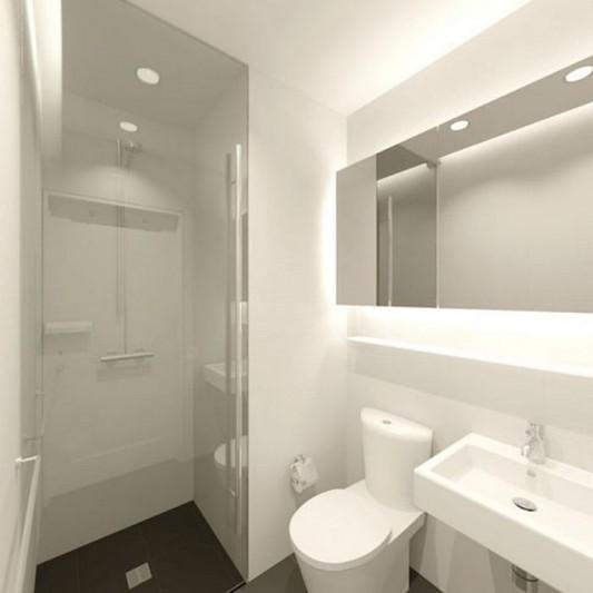 Modern Sensibility interior apartment renovation design luxurious bathroom