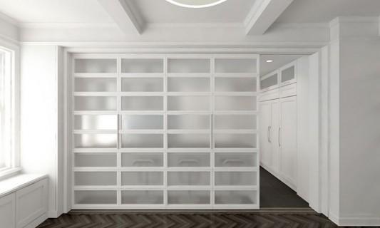 Modern Sensibility interior apartment renovation design luxury white kitchen