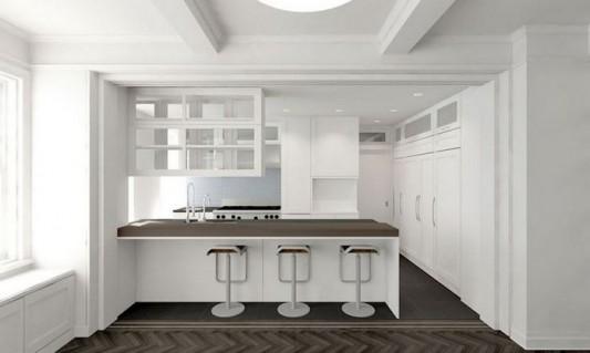 Modern Sensibility interior apartment renovation design minimalist kitchen counter