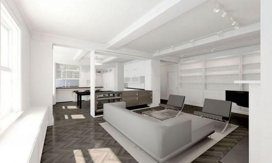 Modern Sensibility interior apartment renovation design - open interior concept