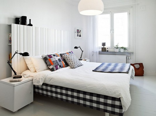 Modern Swedish family house interior ideas neutral bedroom