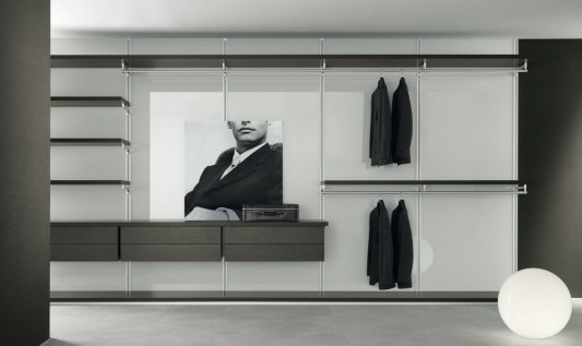 Modern dress bold walk-in closet elegant and minimalist design