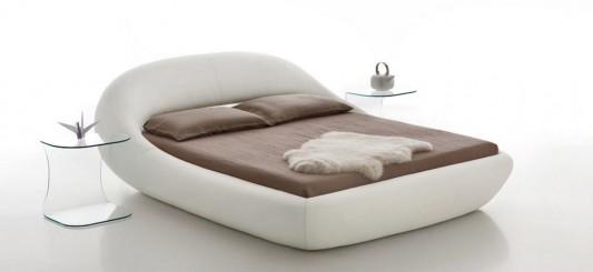 Modern eco-friendly Sculptural leather bed design