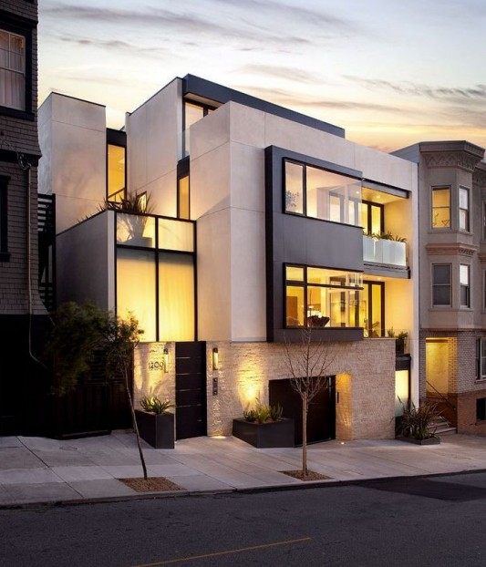 New Four Story Urban Home Design Russian Hill Residence By John
