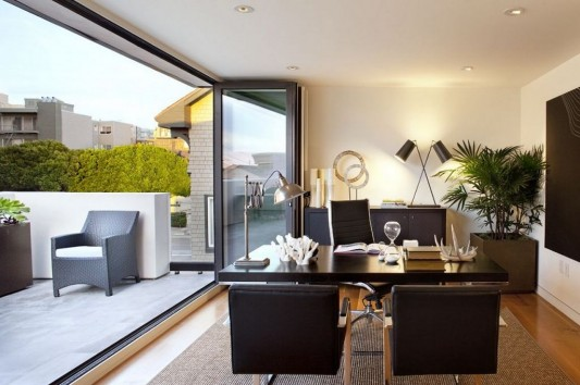 New Four-Story Urban Home Design, Russian Hill Residence by John ...