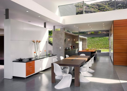 Modern minimalist lima residence kitchen and formality dining room