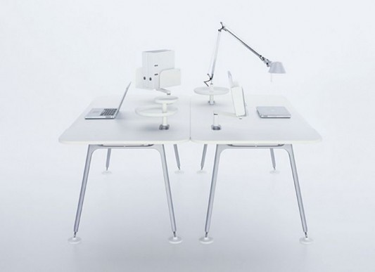 Modern minimalist office desk design