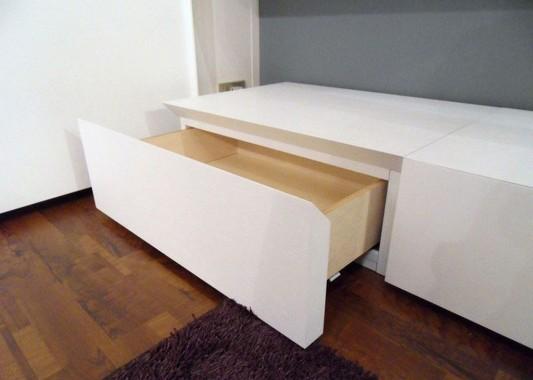 Modern minimalist white bedroom furniture cabinet