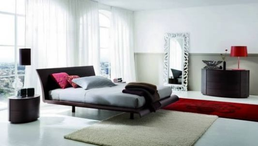 Modern stylish double bed contemporary bedroom ideas