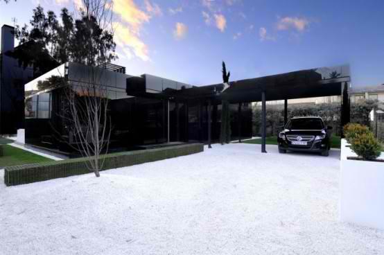 Modular  Black Gloss contemporary Home Design