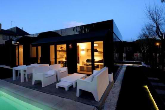 Modular  Black Gloss Home Design concept