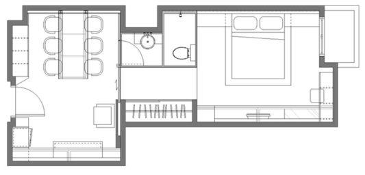Mr.Chou's Apartment floor plan