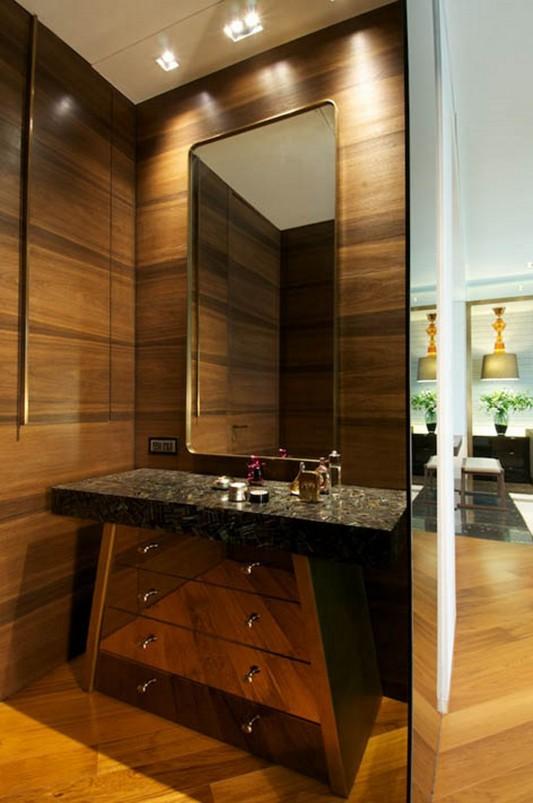 New Delhi Interior Design Ideas by Rajiv Saini mirror and cabinet