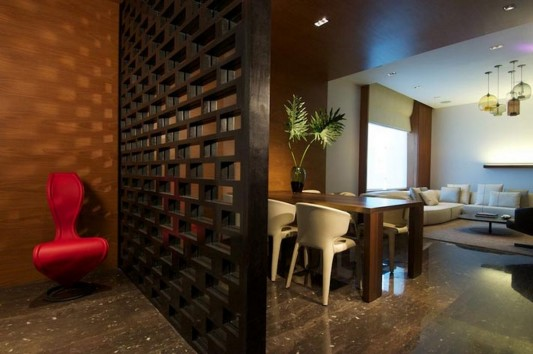 New Delhi Interior Design Ideas by Rajiv Saini room partition