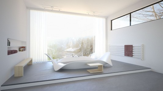 Ocean Wave Bathtubs in beautiful design by Bagno Sasso