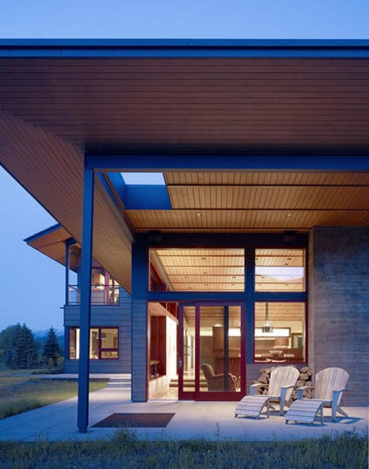 Peaks View Residence exotic wooden house terrace design