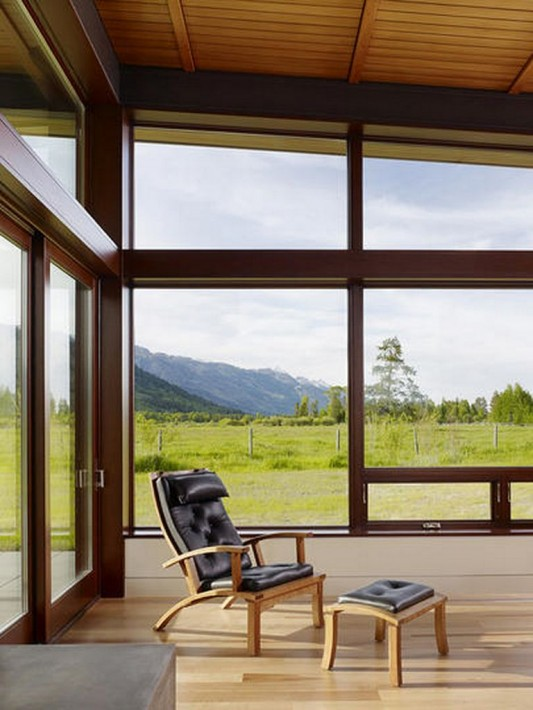 Peaks View Residence interior design with lounge chair