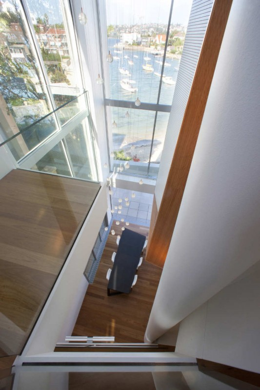 Point Piper House by POPOVbass Architects interior top view