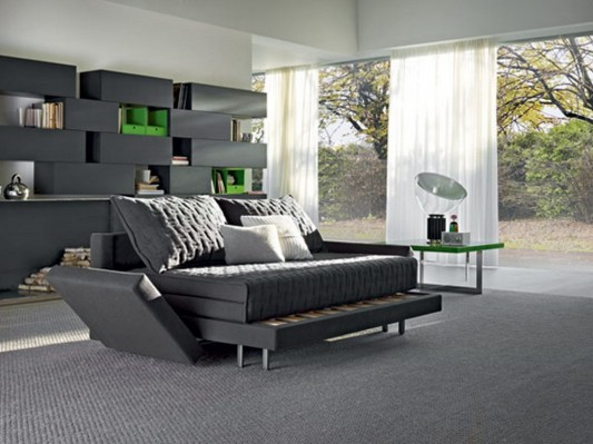 Practical transformable sofa bed in minimalist design